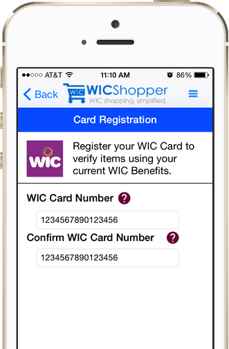 Register Your WIC Card