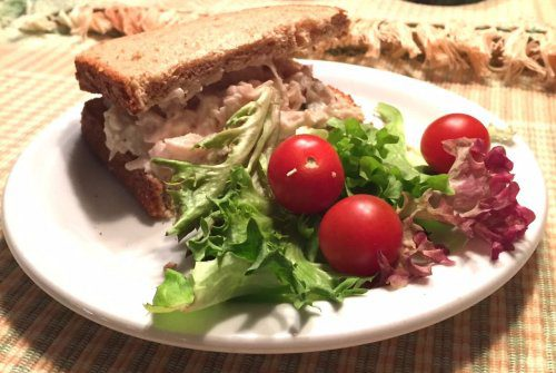 Fruity Chicken Salad on Whole Wheat