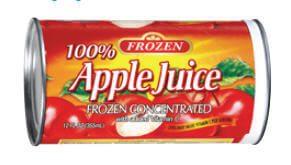 Frozen Apple Juice