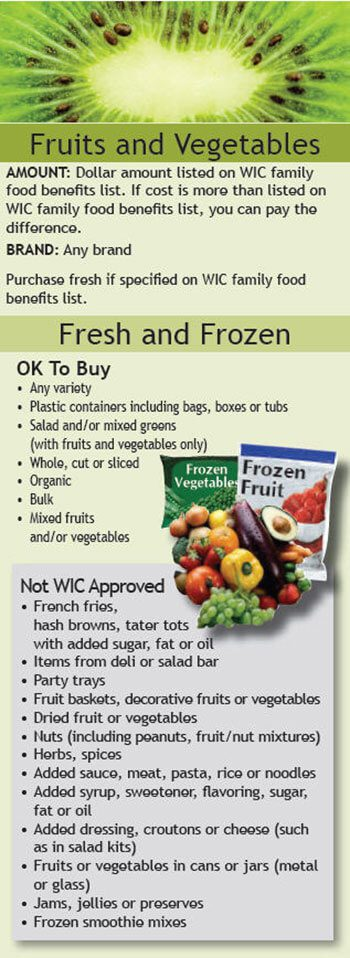 Food List Of Whole  That Are Allowable