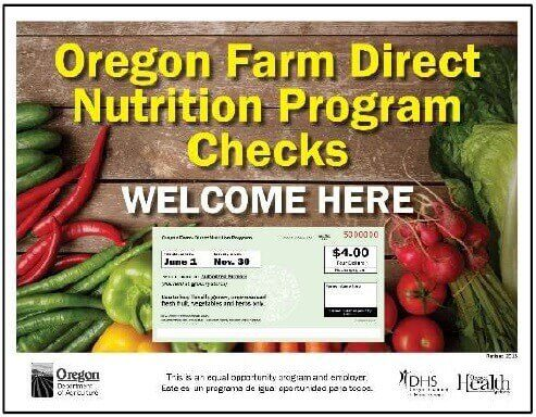 Oregon WIC farmers market program