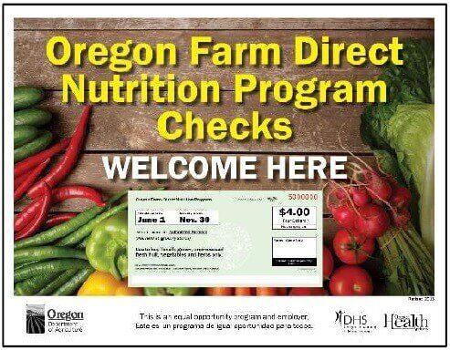 Oregon WIC farmers market program