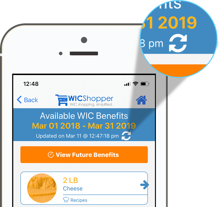 WICShopper Refresh Benefits