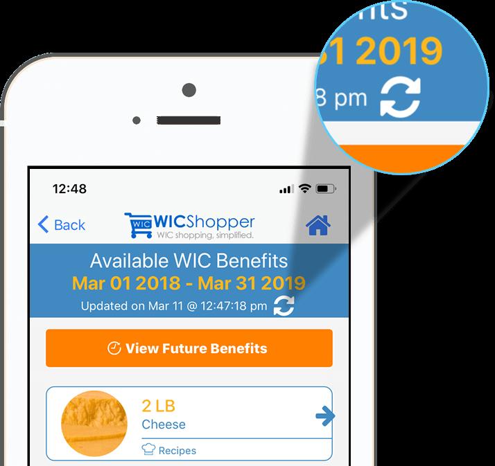 WICShopper Refresh Benefits