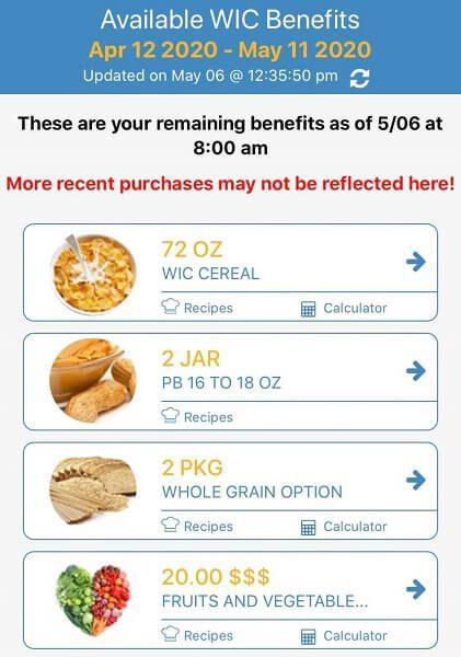 Oklahoma WIC Benefit Balance