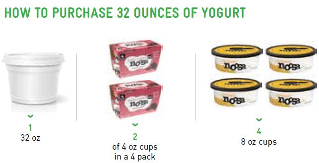 How to buy 32 ounces of yogurt