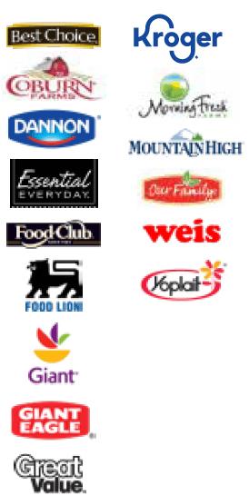 Yogurt Brands Available
