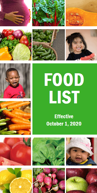 Cover for the 2020 Food Guide