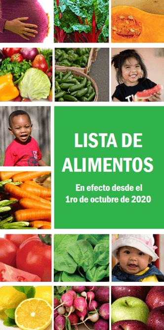 Spanish Food List Cover