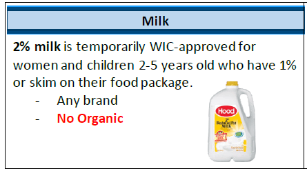 Expanded Milk options